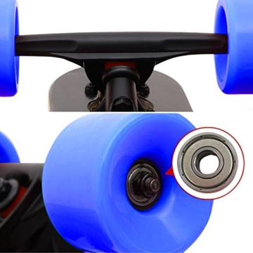 Ancheer Longboard Skateboard Board Cruiser-Komplettboard mit ABEC-9 High Speed Kugellager ,103x25x10cm -