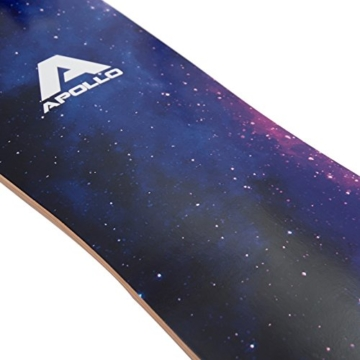 Apollo Longboard Nebula Special Edition Complete board with high-speed ABEC bearings incl. skate t-tool, drop through freeride skate cruiser boards -