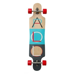 Apollo Longboard Tahiti, Komplettboards, Twin-Tip Drop-Through Freeride Skaten Cruiser Board -