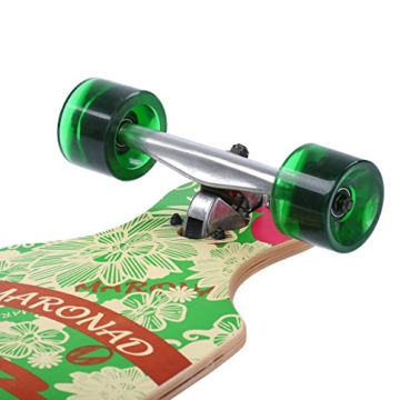 [Maronad.GCP]® Longboard Skateboard drop through Race Cruiser ABEC-11 Skateboard 104x24cm Streetsurfer skaten ARUBA -