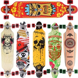 [Maronad.GCP]® Longboard Skateboard drop through Race Cruiser ABEC-11 Skateboard 104x24cm Streetsurfer skaten HAWAII -