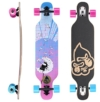 STAR-SKATEBOARDS® Premium Canadian Maple Drop Through Flush Cut Pro Longboard Skateboard für Kinder auch Anfänger ab ca. 6 - 8 Jahre ★ 65mm Kids Cruiser/Dancer Edition ★ Puff Ball Design -