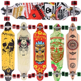 [Maronad.GCP]® Longboard Skateboard drop through Race Cruiser ABEC-11 Skateboard 104x24cm Streetsurfer skaten SAT -