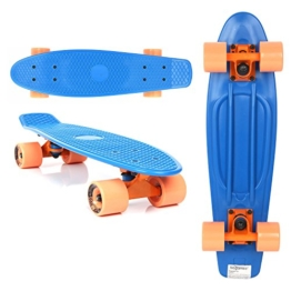 Miganeo MG Pro Style Retro Skateboard Long Board Skateboard Surfboard ABEC 7 - Nr. 101080 (blau) -